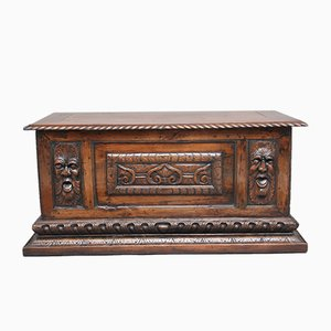 Italian Carved Trunk, 1800s