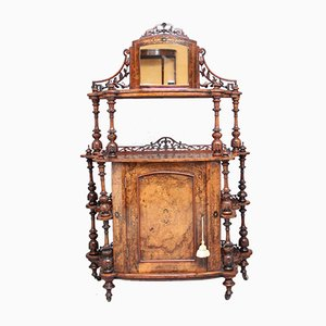 19th-Century Burr Walnut Cabinet