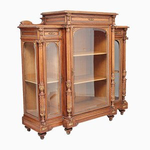 French Walnut Display Cabinet, 1880s