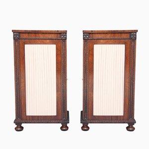 Rosewood Pedestal Cabinets, 1830s, Set of 2