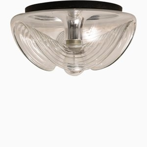 Large Wave Ceiling Or Wall Lamp from Peill & Putzler, 1970s