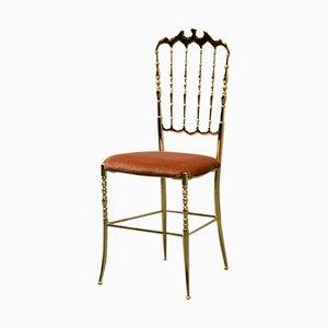 Italienischer Mid-Century Stuhl von Giuseppe Gaetano Descalzi für Chiavari, 1950er