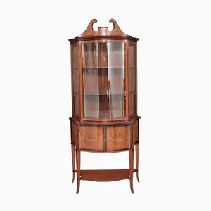 Antique Satinwood Inlaid Display Cabinet