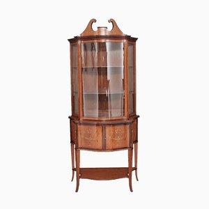Antique Satinwood Inlaid Display Cabinet