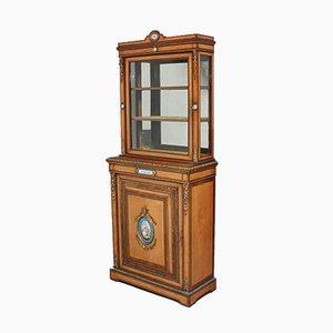 Mueble de madera satinada y palisandro, década de 1870