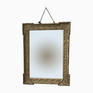 Antiker goldener Stucco Spiegel