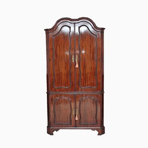 Dutch Mahogany Corner Cupboard, 1780s