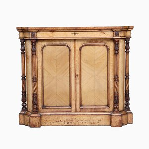 19th-Century Birds Eye Maple Cabinet