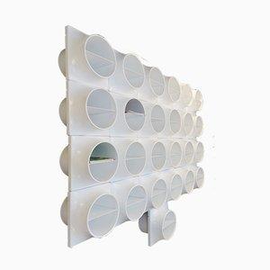 Ripiani modulari in plastica bianca, anni '70