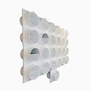 White Plastic Modular Shelves, 1970s