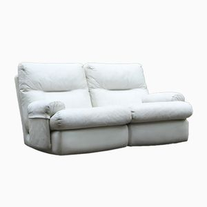 White Leather Sofa from Ligne Roset, 1980s