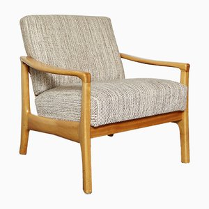 Mid-Century German Cherry Wood Easy Chair