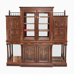 Antique Aesthetic Movement Display Cabinet by James Lamb