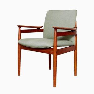 Mid-Century Modell FD 192 Chair von Finn Juhl für France & Søn