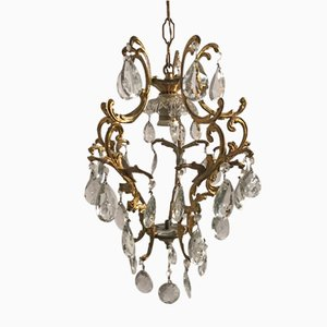 Lámpara colgante vintage de cristal