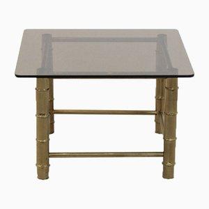 Tavolino in ottone a forma di bambù, anni '60