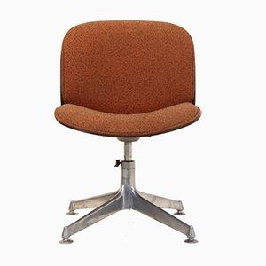 Bürostuhl aus Nussholz von Ico Parisi für MIM, 1960er