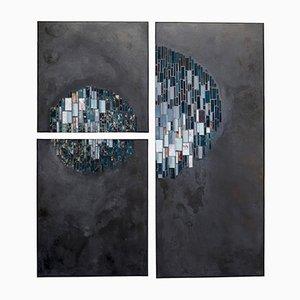 Pannelli a mosaico Ronde Nocturne di Anaïs Landes, set di 3