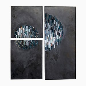 Ronde Nocturne Mosaic Panels by Anaïs Landes, Set of 3
