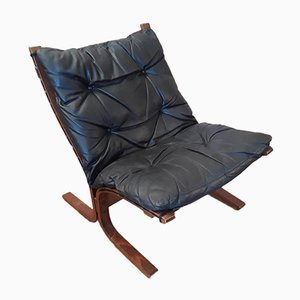 Siesta Leather Armchair by Ingmar Relling for Westnofa, 1960s