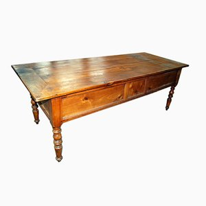 Tavolino da caffè antico in ciliegio