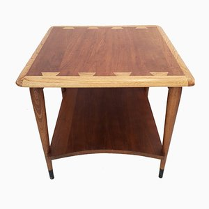 Model Acclaim Walnut & Oak Side Table by Andre Bus for Lane Furniture, 1960s