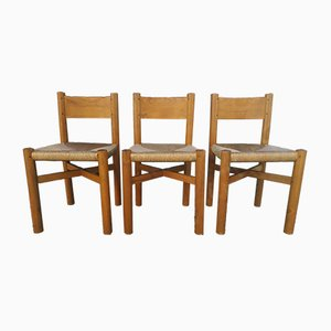 Meribel Chairs by Charlotte Perriand, 1950s, Set of 3