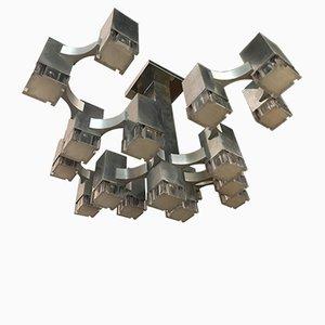 Würfelförmiger Kronleuchter von Sciolari, 1970er
