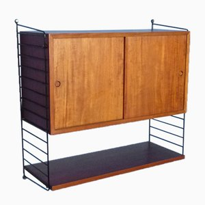 Wall Unit with Desk by Kajsa & Nils Strinning for String, 1950s