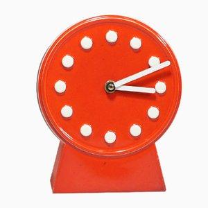 Horloge de Bureau Vintage en Céramique par Britt-Louise Sundell pour Gustavsberg