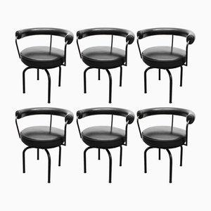 Chaises Pivotantes LC7 par Charlotte Perriand & Le Corbusier pour Cassina, 1970s, Set de 6