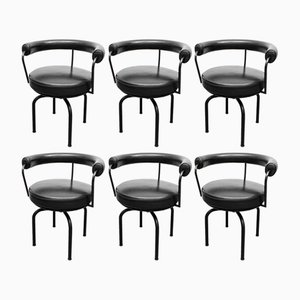 LC7 Drehstühle von Charlotte Perriand & Le Corbusier für Cassina, 1970er, 6er Set