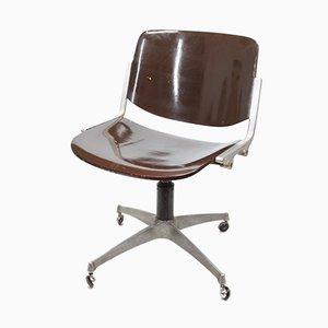 Chaise de Bureau Pivotante Vintage de Anonima Castelli