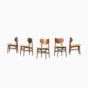 Dining Chairs by Louis van Teeffelen for WéBé, Set of 5