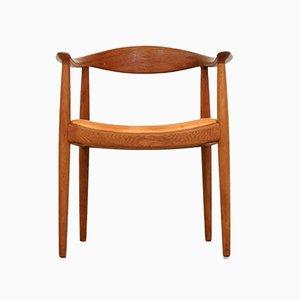 Vintage Beistellstuhl von Hans Wegner für Johannes Hansen