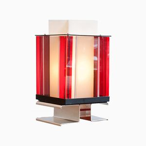 Italian Plexiglas Table Lamp, 1970s