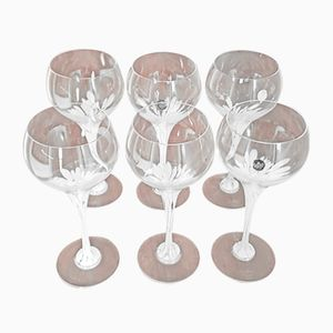 Vintage Red Wine Glasses by Michael Boehm for Rosenthal, Set of 6