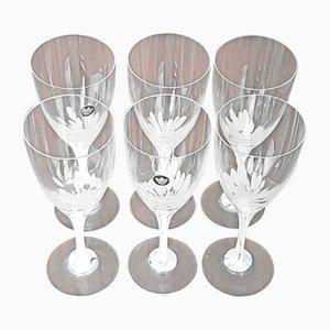 Vintage Weißweingläser von Michael Boehm für Rosenthal, 6er Set
