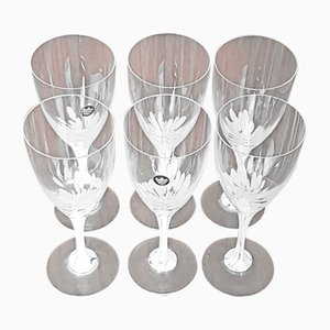 Vintage White Wine Glasses by Michael Boehm for Rosenthal, Set of 6