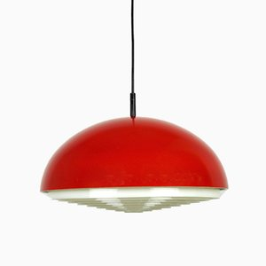 Red Ceiling Lamp from Kaiser Leuchten, 1960s