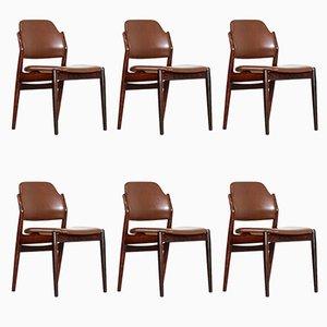 Chaises de Salle à Manger en Palissandre par Arne Vodder pour Sibast, Set de 6