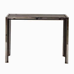 Italian Smoked Glass Console Table, 1970s