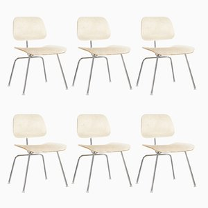 DCM Chairs by Charles & Ray Eames for Herman Miller, 1970s, Set of 6