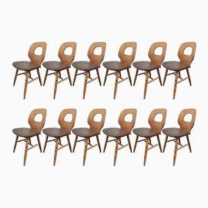 Beistellstühle von Joamin Baumann, 1950er, 12er Set