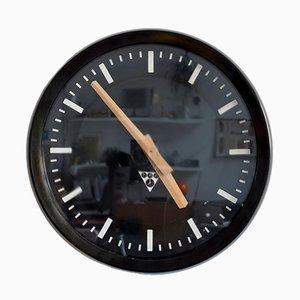Orologio da stazione Pragotron Pv 301 industriale, anni '90