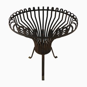 Large Mid-Century French Brazier Fire Basket