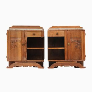 French Art Deco Side Cabinets, 1930s