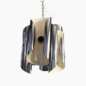 Chromed Steel Ceiling Lamp, 1950s