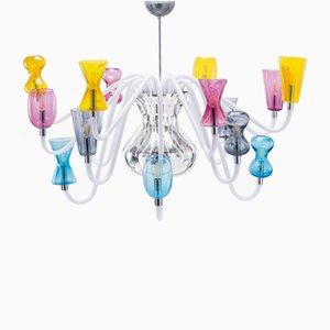 Lámpara de araña K1 con 16 luces de Karim Rashid de Purho
