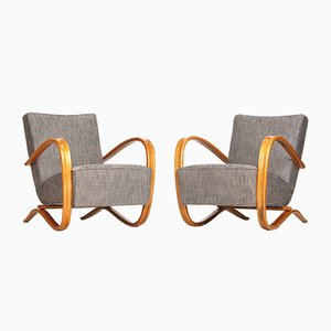 Lounge Chair by Jindrich Halabala for UP zavody, 1930s, Set of 2